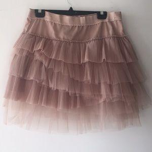 Nude BCBGMAXAZRIA Tutu crinoline Skirt NWT
